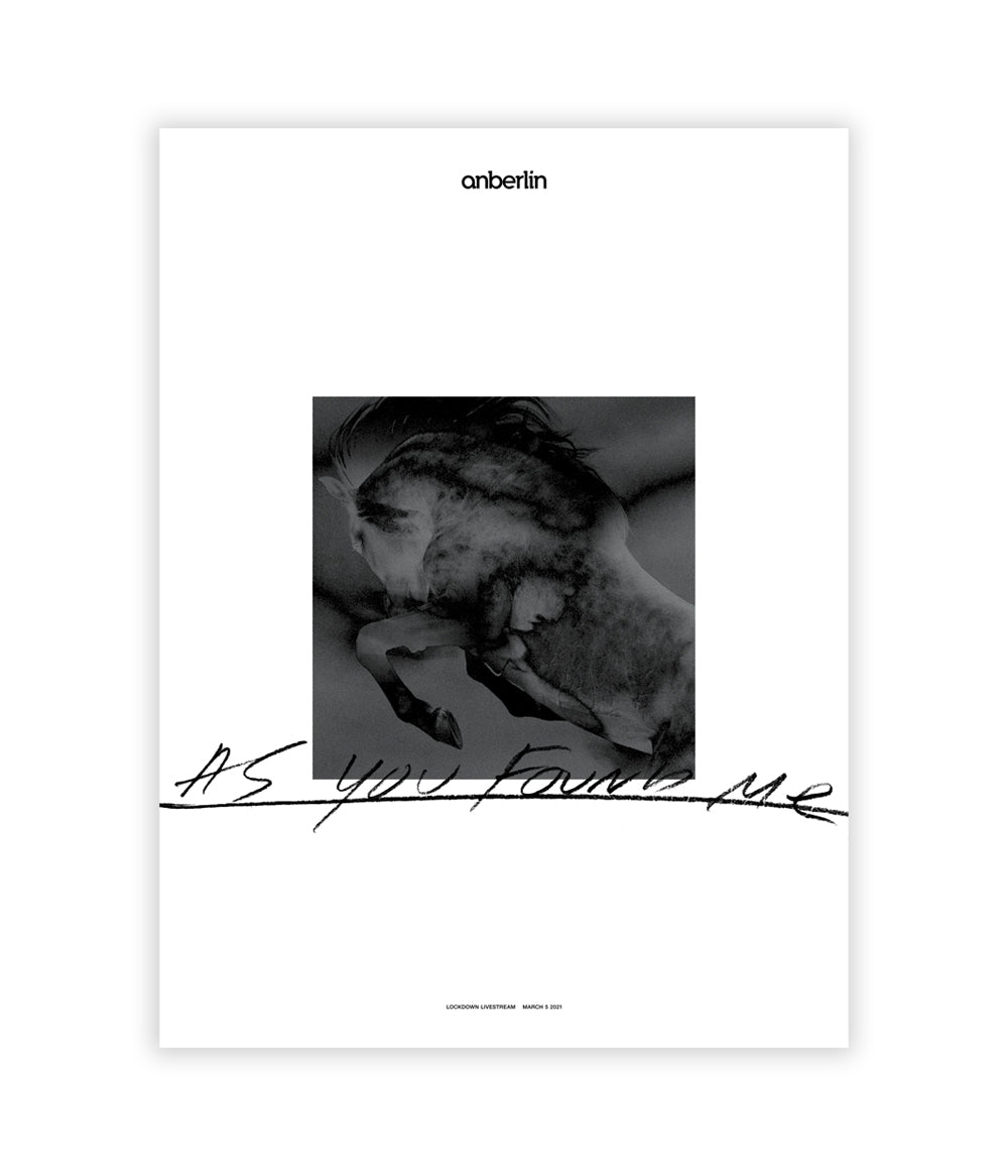 Anberlin As You Found Me Livestream Poster *PREORDER - SHIPS MAR 31