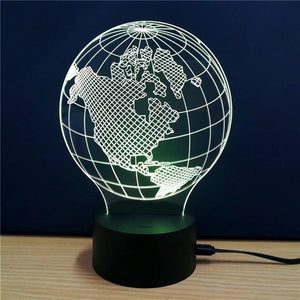 3D Colorful Earth Model Lamp
