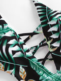 Tropical Print Plunge Neckline Monokini gifts, gift ideas
