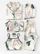 Floral Print Cami Pajama Set With Shirt Women's Clothing