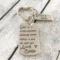 Aunt keychain - Gift for Aunt - Hand stamped gifts, gift ideas