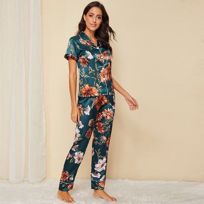 Floral Print Satin Pajama Set gifts, gift ideas