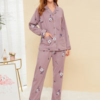 Floral Print Button-up Pajama Set gifts, gift ideas