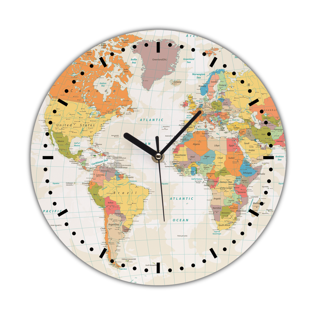Wall Clock Map gifts, gift ideas
