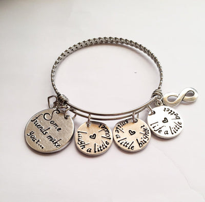 Best friends bracelet - Stainless steel bracelet Jewelry & Watches