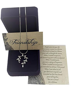 Vine Leaf Pendant Friendship Necklace Gift Set gifts, gift ideas