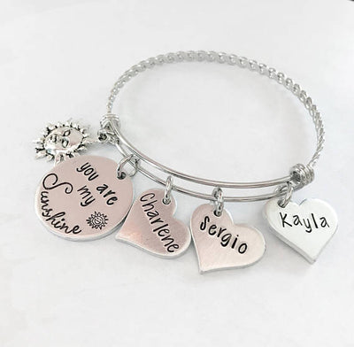 You are my Sunshine - Mother's bracelet gifts, gift ideas