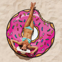 Gigantic Donut Beach Towel Blanket gifts, gift ideas