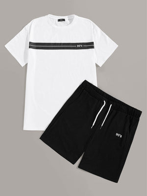 Men Panel Insert Tee & Track Shorts Set gifts, gift ideas