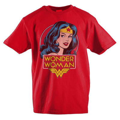 Classic Wonder Woman Headshot Girls T-Shirt