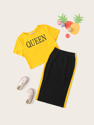Girls Queen Top & Skirt Set gifts, gift ideas