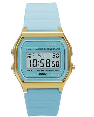 Sporty Light Blue Silicon Digital Watch Watches: Digital