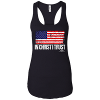 IN CHRIST I TRUST  Ladies Ideal Racerback Tank gifts, gift ideas