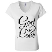 GOD IS LOVE Ladies' Jersey V-Neck T-Shirt gifts, gift ideas