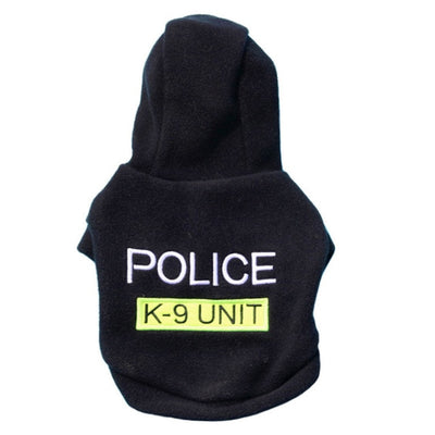 Letter POLICE print pet dog Hooded Coat Fleece Pets