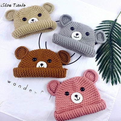 Knitted Bear Hats for Kids