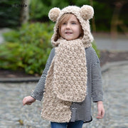 Animal Ears Wool Hat Scarf gifts, gift ideas