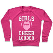 GIRLS CHEER LOUDER CREWNECK SWEATSHIRT gifts, gift ideas
