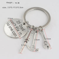 If Dad Can Not Fix It No One Can Keychain gifts, gift ideas
