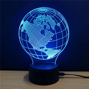 3D Colorful Earth Model Lamp gifts, gift ideas