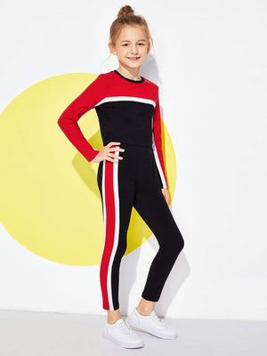 Girls Color-Block Top & Pants Set gifts, gift ideas