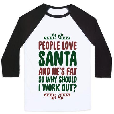 PEOPLE LOVE SANTA BASEBALL T-Shirt gifts, gift ideas