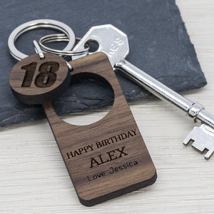Personalised Birthday Keyring gifts, gift ideas