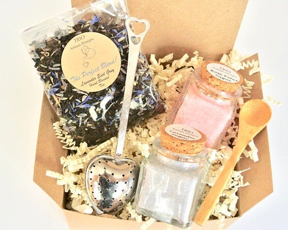 Lavender Earl Grey Tea & Sugar Gift Set, Lavender Home & Garden