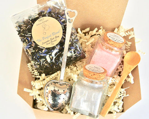 Lavender Earl Grey Tea & Sugar Gift Set, Lavender gifts, gift ideas