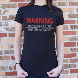 Viewer Discretion Ladies T-shirt gifts, gift ideas