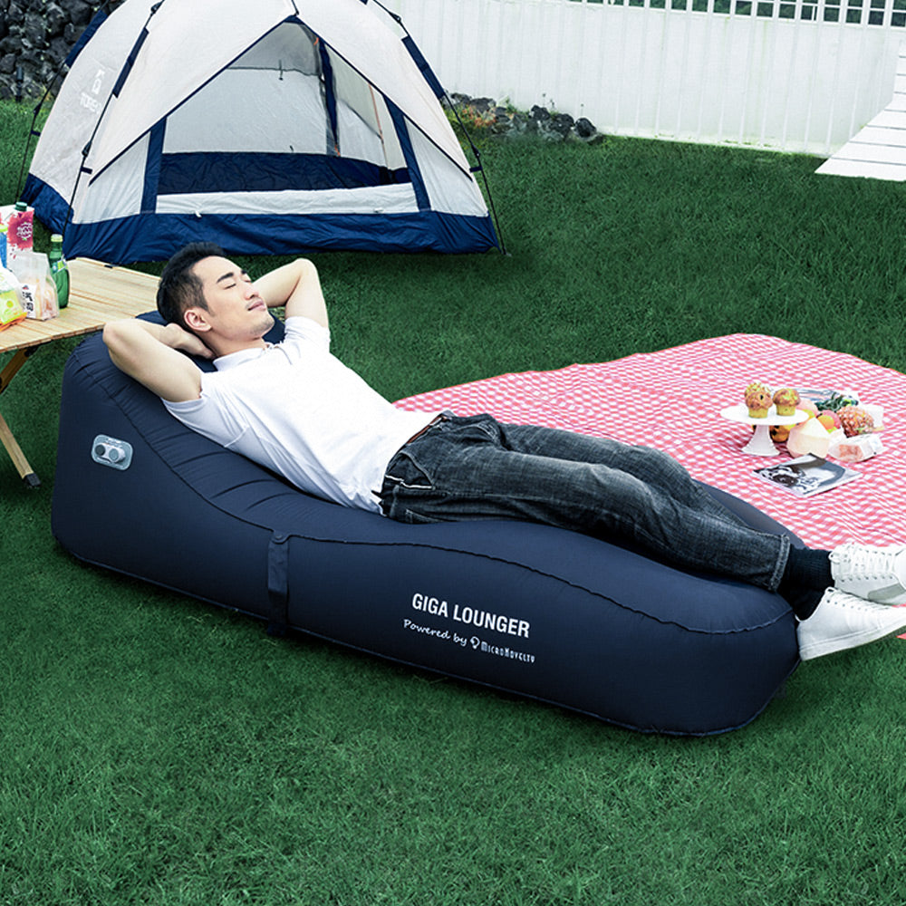 GIGA Lounger Inflatable Couch – Cool Inflatable Chair. Upgrade Your Camping Accessories.