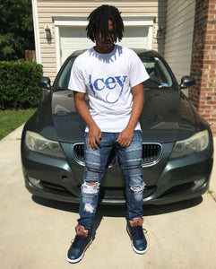 Royal Blue Print - Shirt Available In 7 Different Colors! - Icey Apparel