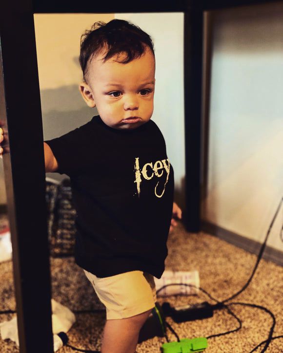 Infant Gold Print Shirt - Icey Apparel