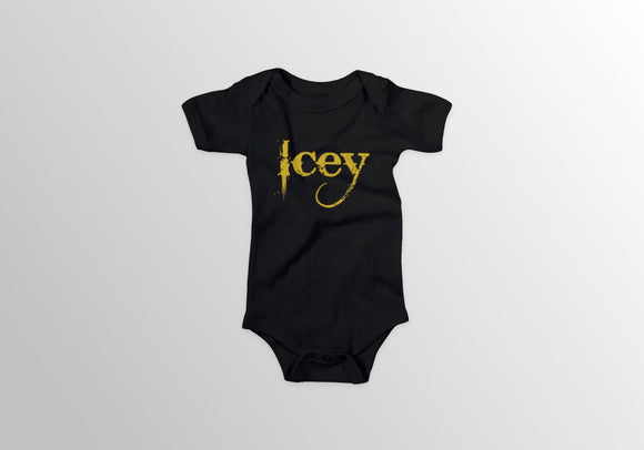 Infant Gold Print Onesie - Icey Apparel