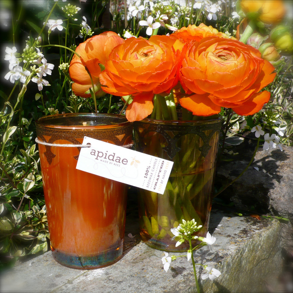 Moroccan Tea Glass + Ranunculus