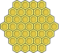 apidae candles honeycomb diagram