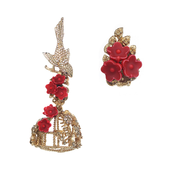 Birdcage Combination Earrings