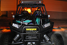 Polaris, RZR Grille & OnX6 LED Light Bar Kit (14-15)