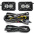 S2 Pro, Pair, LED Work/Scene, Flush Mount, Backup Kit