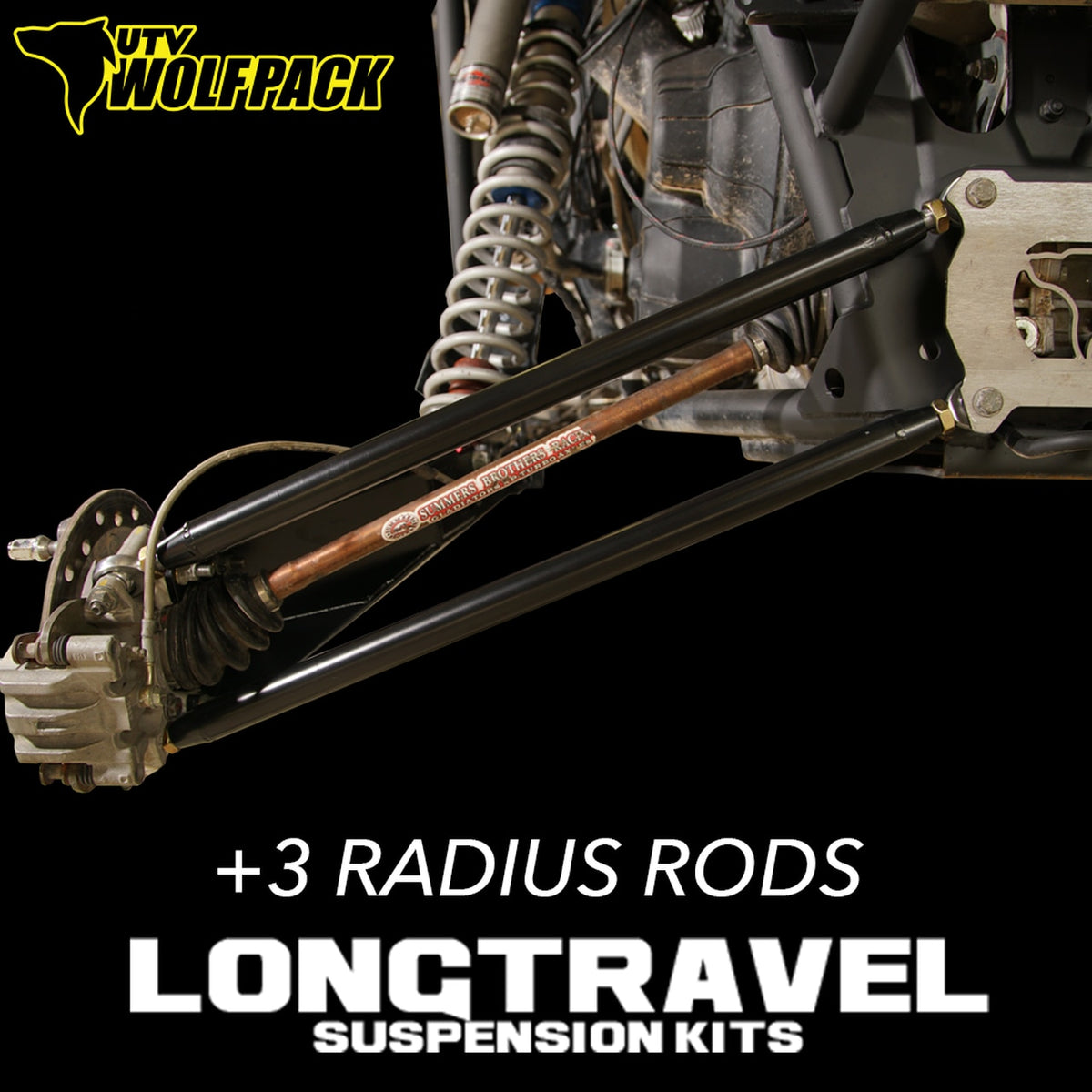 (2014-20)Polaris RZR XP1000 / Turbo Long Travel +3 HD Chromoly Radius Rods 1.25x.120 wall