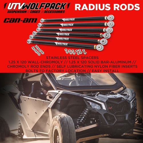 "(2017-20)Can Am X3 72"" Model Stock Replacement bolt on HD kitCan Am Maverick X3 XRS Radius Rods Aluminum 72'' Model Heavy Duty"