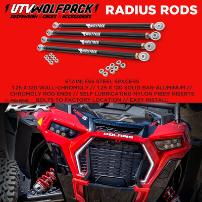 (2018-20)Polaris RZR XP1000 Turbo S Radius Rods Aluminum Heavy Duty