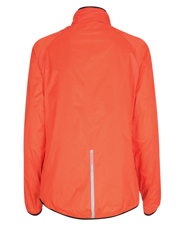 women's orange windpack jacket by newline for aktiv scandinavian running clothes back view