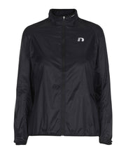 women's black windpack jacket by newline for aktiv scandinavian running clothes front view