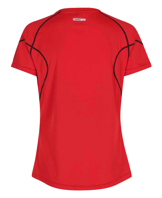 women's base coolskin tee red by newline for aktiv activewear back view