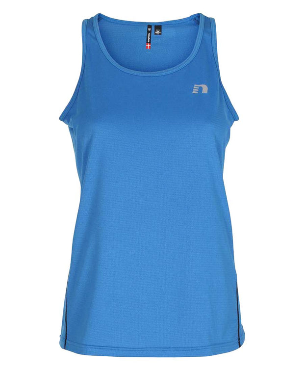 women's base coolskin singlet blue by newline for aktiv activewear front view