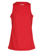 women's base coolskin singlet red by newline for aktiv activewear back view