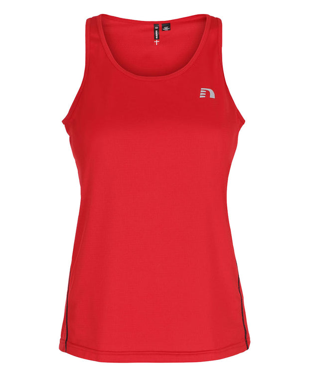 women's base coolskin singlet red by newline for aktiv activewear front view