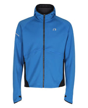 men's base warm up jacket blue by newline for aktiv scandinavian activewear front view