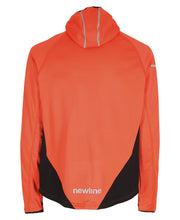 men's base warm up jacket orange by newline for aktiv scandinavian activewear back view